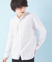 オックスフォードバンドカラーシャツ L/Sホワイト