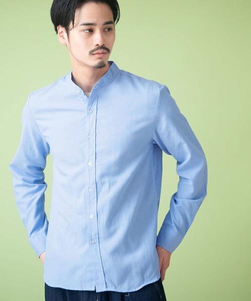 4ca4d41e542305 MONO-MART(モノマート)の「オックスフォードバンドカラーシャツ L/S(