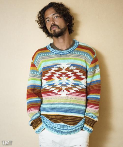 驚きの安さ MULTICOLOR PERUVIAN HAND-KNIT PULLOVER(ニット HAND-KNIT/セーター)|TMT(ティーエムティー)のファッション通販, denpcy:0235ce68 --- skoda-tmn.ru