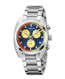 CALVIN KLEIN WATCHES+JEWELRY(カルバン・クライン ウォッチ&ジュエリー)の[カルバンクライン] CALVIN KLEIN 腕時計 Achieve(アチーブ) クロノグラフ シルバー×ブルー(腕時計)