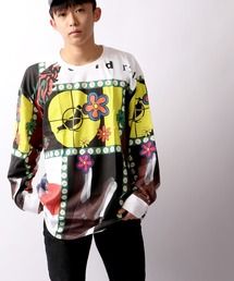【STAPLE】グラフィティ フラワー ロングスリーブTシャツ(Tシャツ/カットソー)