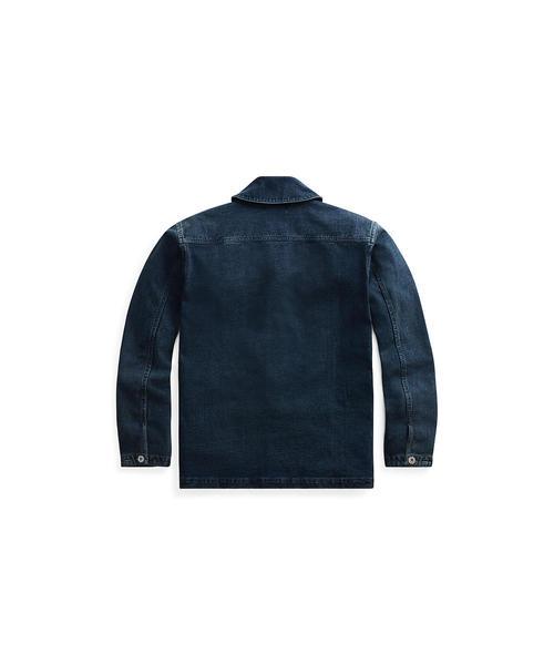 インディゴ ジャージー デッキ ジャケット