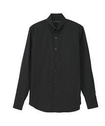 ボタンダウンシャツブラック