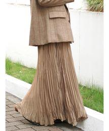 Ungrid(アングリッド)のランダムプリーツマキシスカート(スカート)