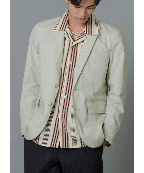 軽いサマージャケット ノッチドラベル