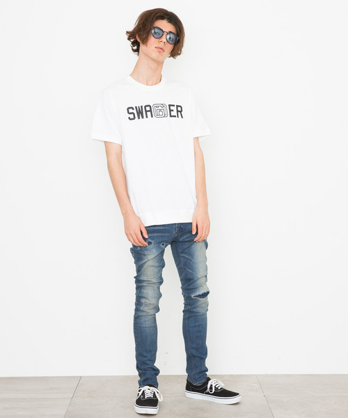 【SWAGGER】《WEB限定》アイコンロゴプリントヘビーウェイトサイドリブTシャツ
