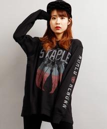 【STAPLE】フェザー 袖プリント ネイティブ ロングスリーブTシャツ(Tシャツ/カットソー)