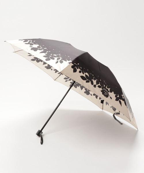 折りたたみ傘 【花シルエット】