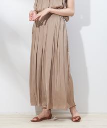 qualite(カリテ)のanana タックサテンスカーチョ(パンツ)