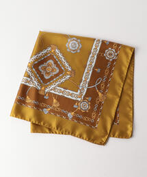 <LELLE>アンティーク柄スカーフ ◆