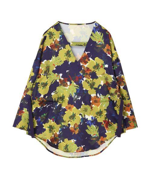 ふるさと納税 アートフラワーブラウス(シャツ/ブラウス)|UN3D.(アンスリード)のファッション通販, 御津郡:bdf0d4ce --- blog.buypower.ng