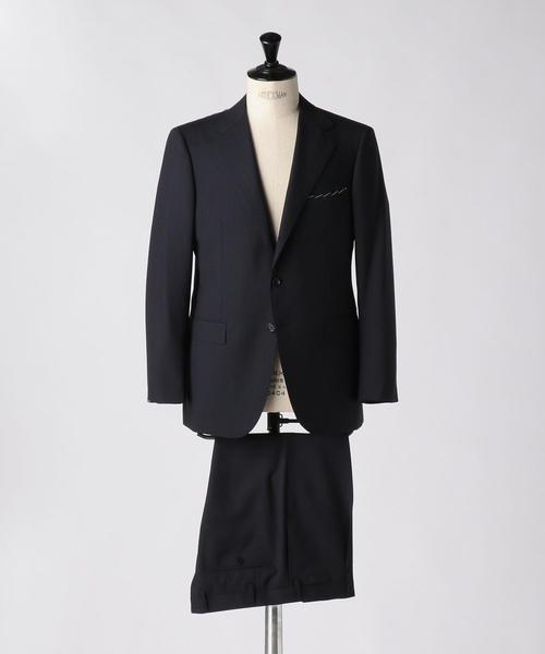 <SOVEREIGN(ソブリン)> シャドウストライプ モヘア 3B スーツ
