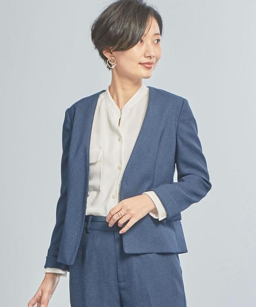 【WORK TRIP OUTFITS】★WTO BCリネンライク ジャケット