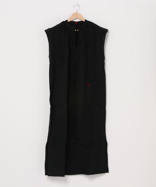 【 Le sans Pareil / ルサンパレイユ 】COTTON LOAN GATHER NS DRESS コットンローン ギャザードレス