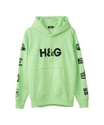 H&G オーバーサイズパーカーグリーン