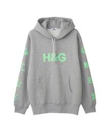 H&G オーバーサイズパーカートップグレー