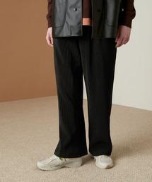 プリーツワイドテーパードリラックスイージーパンツ/ワイドパンツ ワンマイルウェア EMMA CLOTHES 2021SSブラック系その他