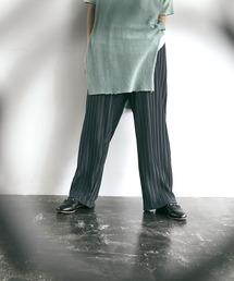 プリーツワイドテーパードリラックスイージーパンツ/ワイドパンツ ワンマイルウェア EMMA CLOTHES 2021SSグレー系その他