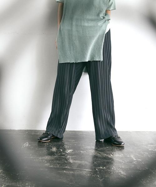 プリーツワイドテーパードリラックスイージーパンツ/ワイドパンツ EMMA CLOTHES 2021SPRING