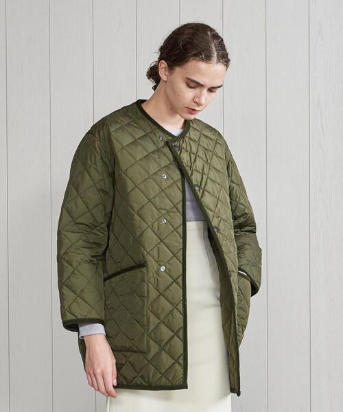 <Barbour>QUILTED NO COLLAR COAT/コート.