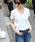coca(コカ)の「シンプルコットンVネックTシャツ(Tシャツ/カットソー)」|ホワイト