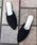LibertyDoll(リバティードール)の「ポインテッドトゥフラット美脚スリッパパンプス(パンプス)」|ブラック