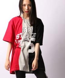 【STAPLE】ビッグストライプ シティ ナンバー スタジアム Tシャツ 半袖(Tシャツ/カットソー)