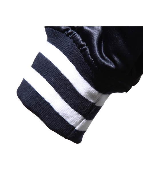 ディープライフスタイルサプライ [DEEP LIFESTYLES SUPPLY CO.] - Abstract Mark Reversible Letterman Jacket