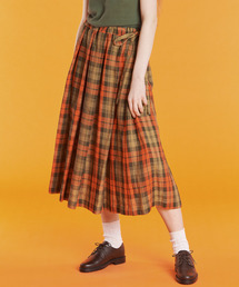 O'NEIL of DUBLIN(オニールオブダブリン)の【O'NEIL of DUBLIN】リネン タックスカート CHECK(スカート)