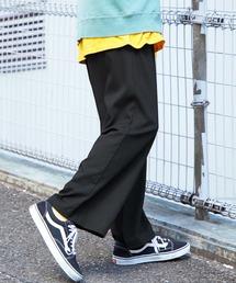 【BASQUE -enthusiastic design-】TRストレッチワイドパンツブラック