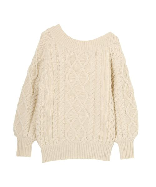 大注目 アシンメトリーアランニット(ニット/セーター) LAGUNAMOON(ラグナムーン)のファッション通販, 置き畳の青畳工房:451472ee --- blog.buypower.ng