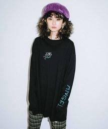 X-girl(エックスガール)のANGEL L/S BIG TEE DRESS(ワンピース)