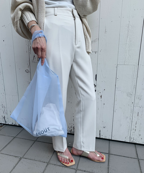 CANAL JEAN(キャナルジーン)の「via j(ヴィアジェイ) オーガンジー巾着付きバッグ(エコバッグ/サブバッグ)」 ブルー
