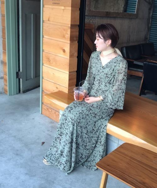 mysty woman(ミスティウーマン)の「【WEB限定アイテム】レインボーワンピース 916034(ワンピース)」|ライトグリーン