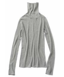 シロップ.(シロップ.)の薄〜く編み立てた縫い目なしのタートルトップス(ニット/セーター)
