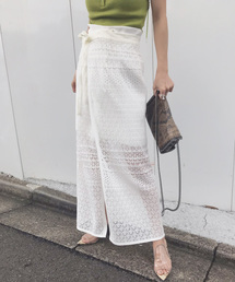 AMERI(アメリ)のLACE MILLEFEUILLE PANTS(パンツ)