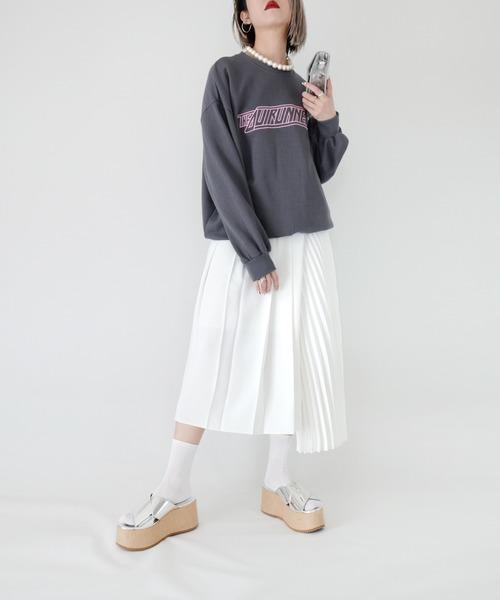 Narcissus(ナルシス)の「【cheap!!by vaNite】アシメプリーツスカート(スカート)」 ホワイト