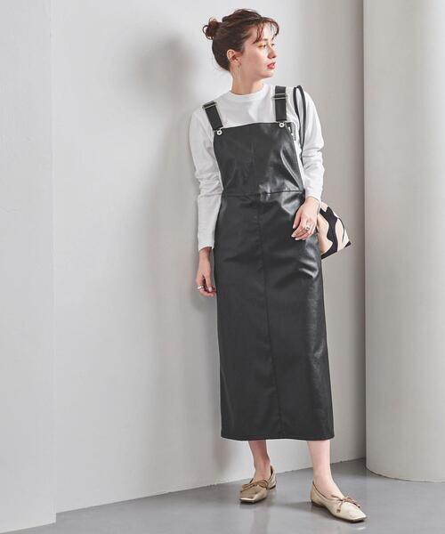 UWFM フェイクレザー ジャンパースカート†◆